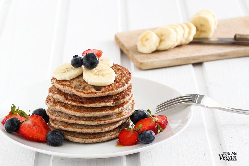 Vegane Pancakes ohne Zucker & glutenfrei